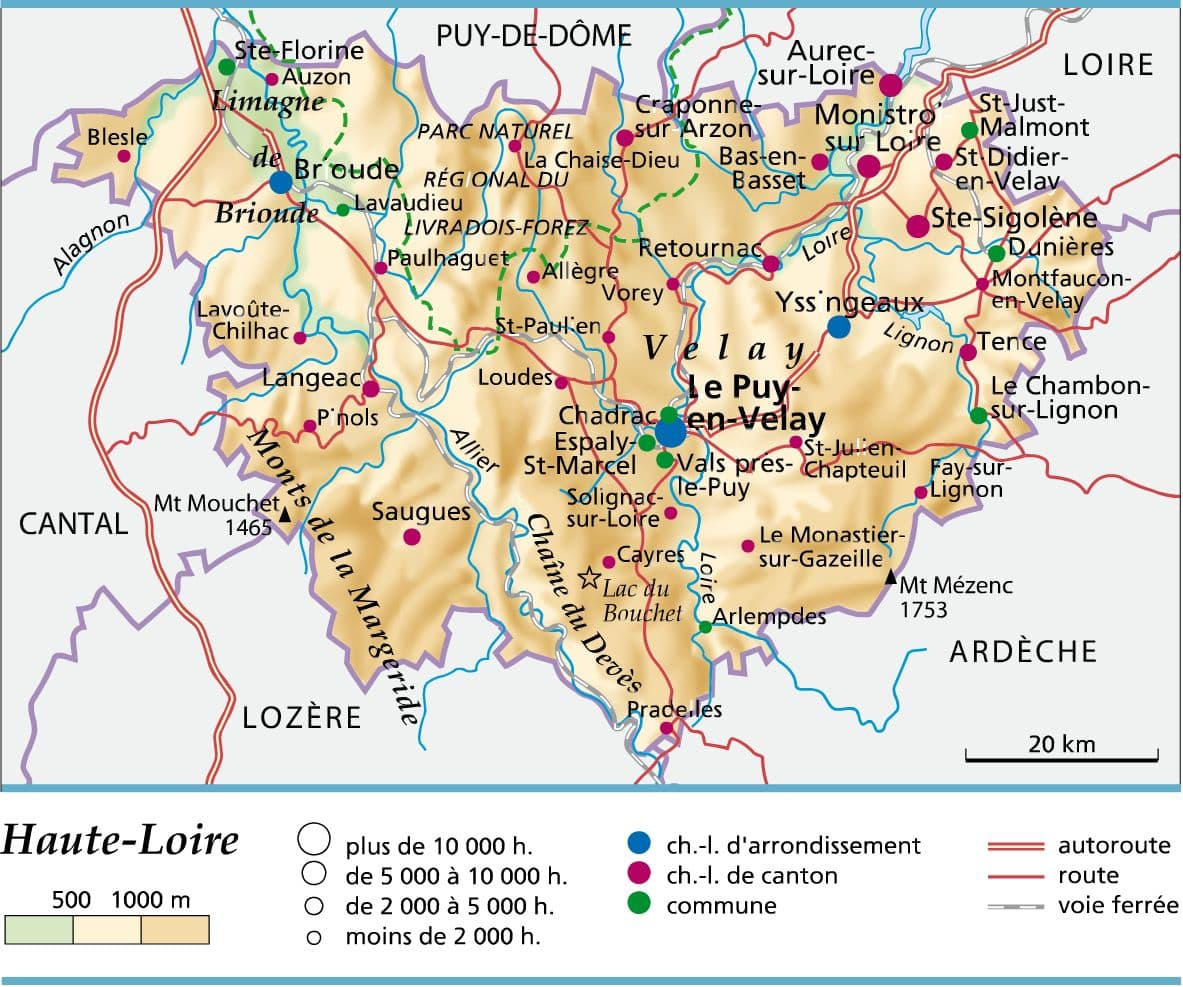 carte de france haute loire