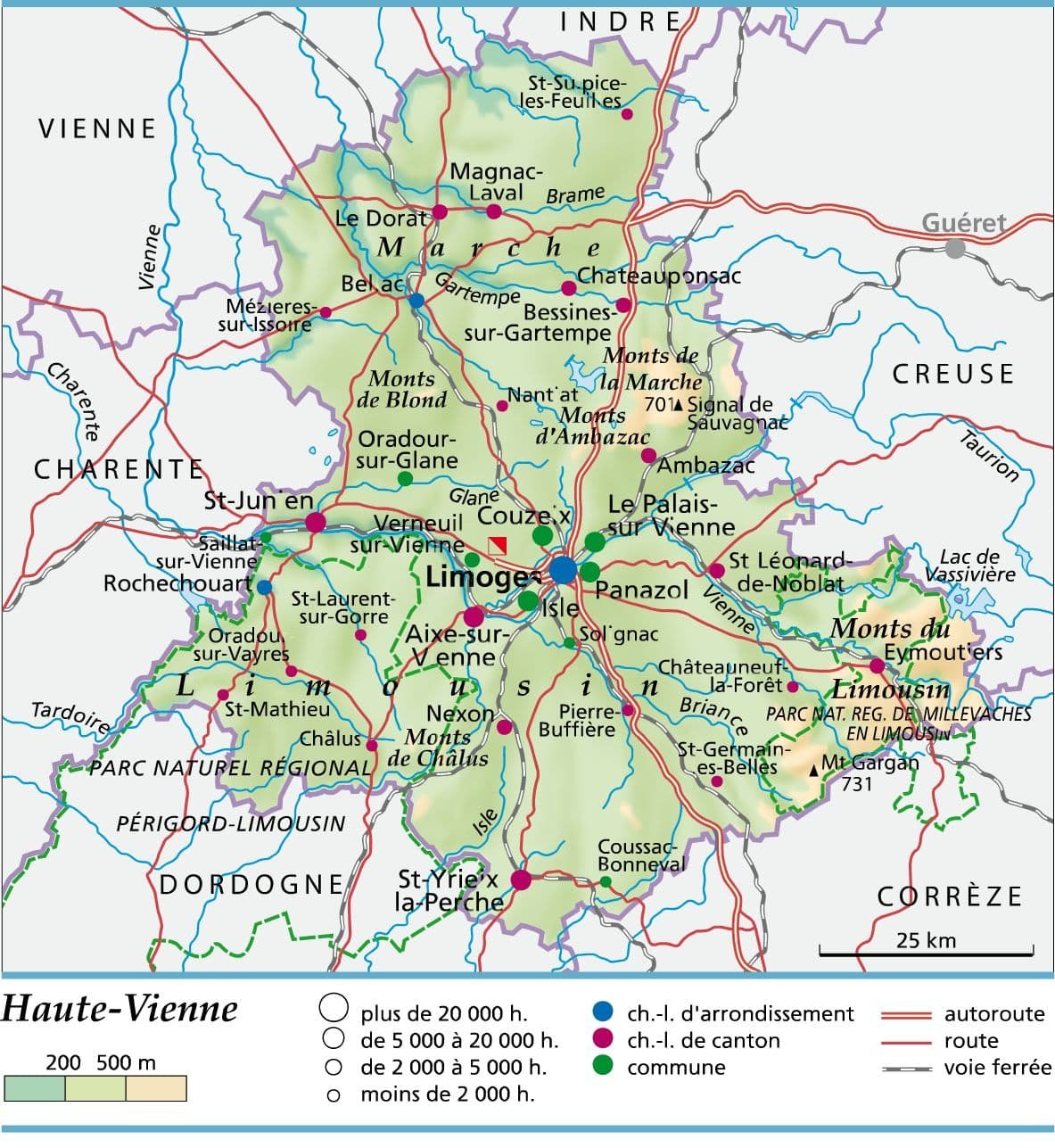 Haute vienne d partement voyages cartes for 87 haute vienne france