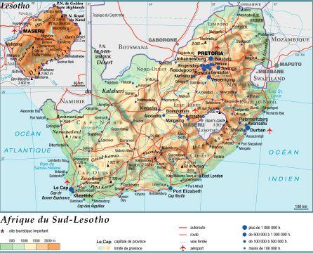Carte Hydrographique De Lafrique Du Sud.Encyclopedie Larousse En Ligne Afrique Du Sud Geographie