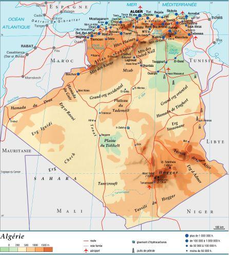 Carte Algerie En Arabe.Encyclopedie Larousse En Ligne Algerie En Arabe Barr Al