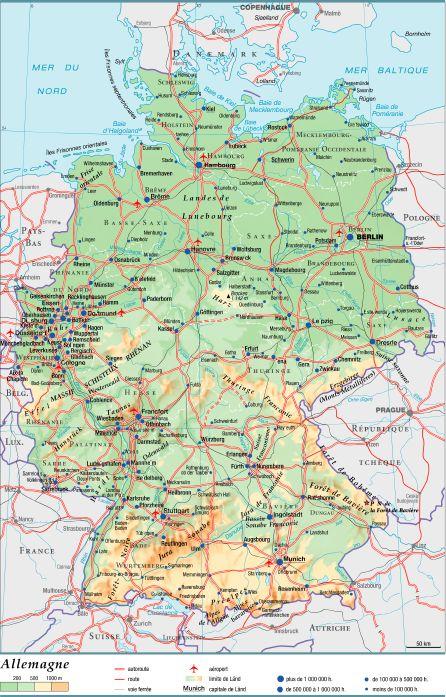 Encyclopedie Larousse En Ligne Allemagne Geographie Physique