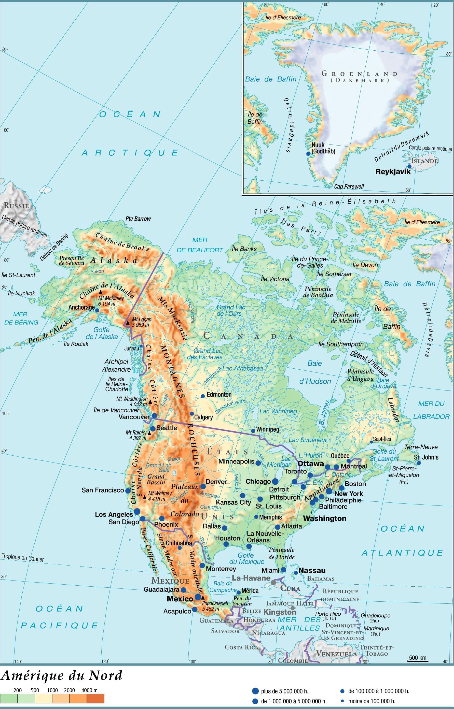 amerique du nord - Image