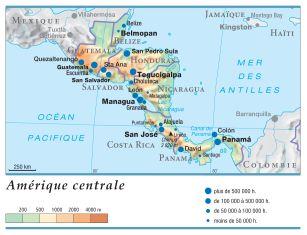 Carte Interactive Amerique Centrale.Encyclopedie Larousse En Ligne Amerique Centrale