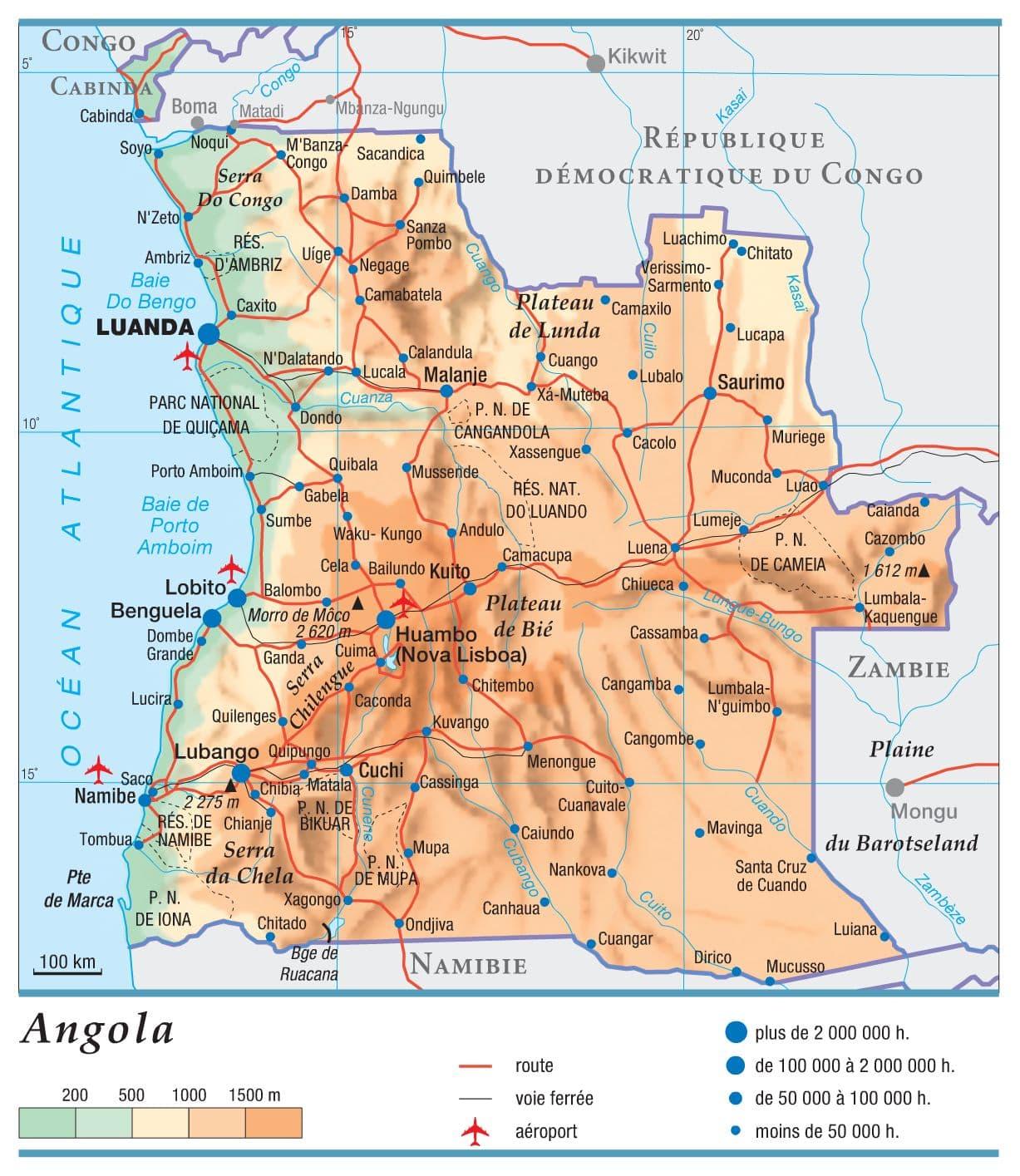 Encyclopédie Larousse en ligne   Angola République d'Angola