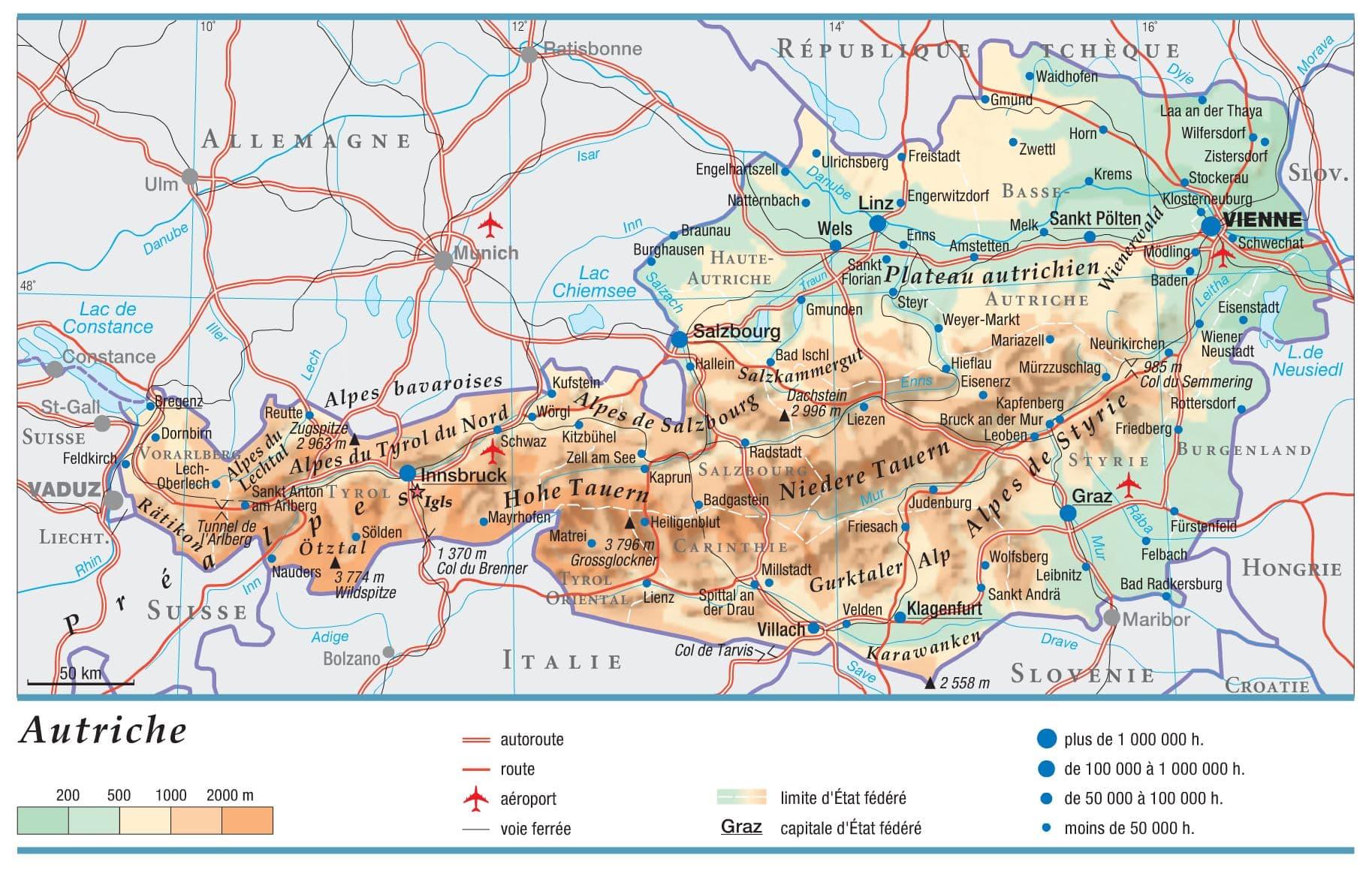 Encyclopédie Larousse en ligne - Autriche en allemand Österreich ...