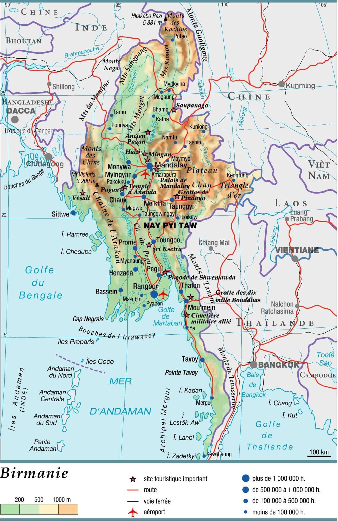 Souvent Encyclopédie Larousse en ligne - Birmanie en birman Myanmar  BU99
