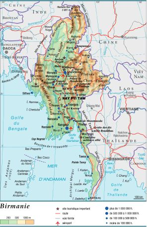 Birmanie Capitale Carte.Encyclopedie Larousse En Ligne Birmanie En Birman Myanmar