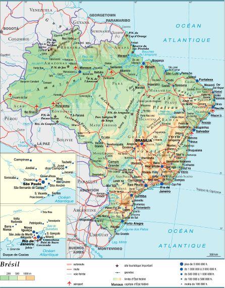 Carte Du Bresil Nordeste.Encyclopedie Larousse En Ligne Bresil Activites Economiques
