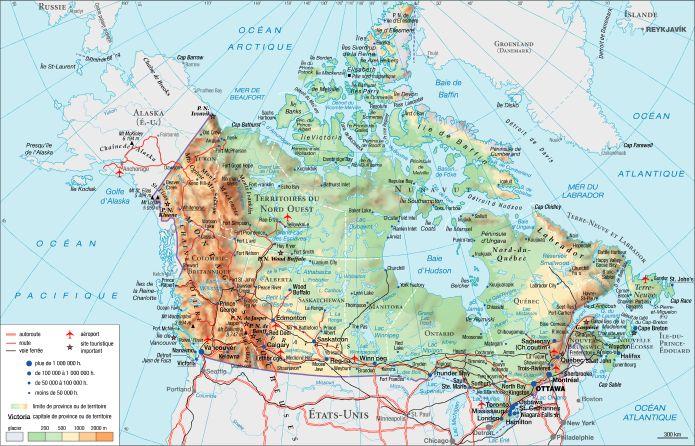 Carte Du Canada Avec Les Villes.Encyclopedie Larousse En Ligne Canada
