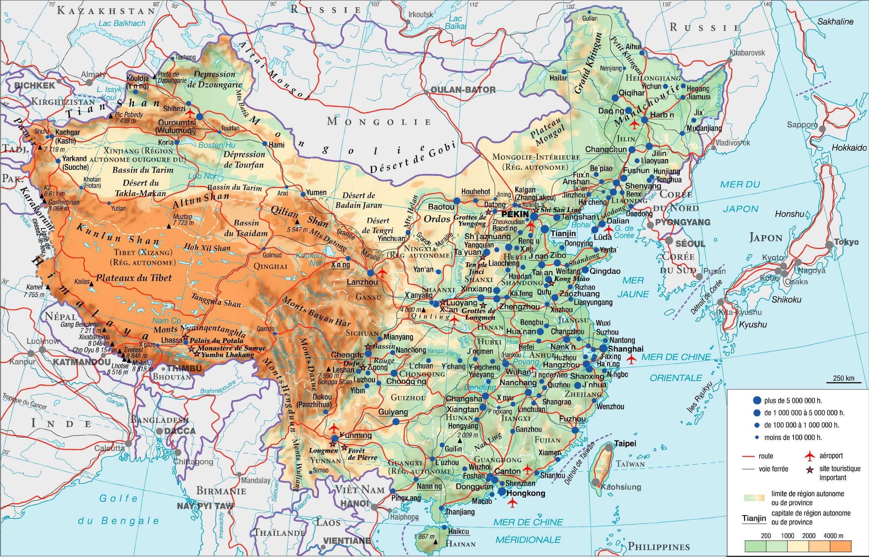 Carte Chine Mongolie.Carte Mongolie Chine Trouver Des Idees Pour Voyager En Asie