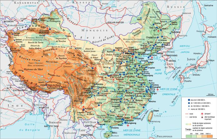 Carte Geographique Chine Sud.Encyclopedie Larousse En Ligne Chine Geographie Physique
