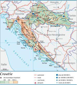 Carte Ancienne Croatie.Encyclopedie Larousse En Ligne Croatie En Croate Hrvatska