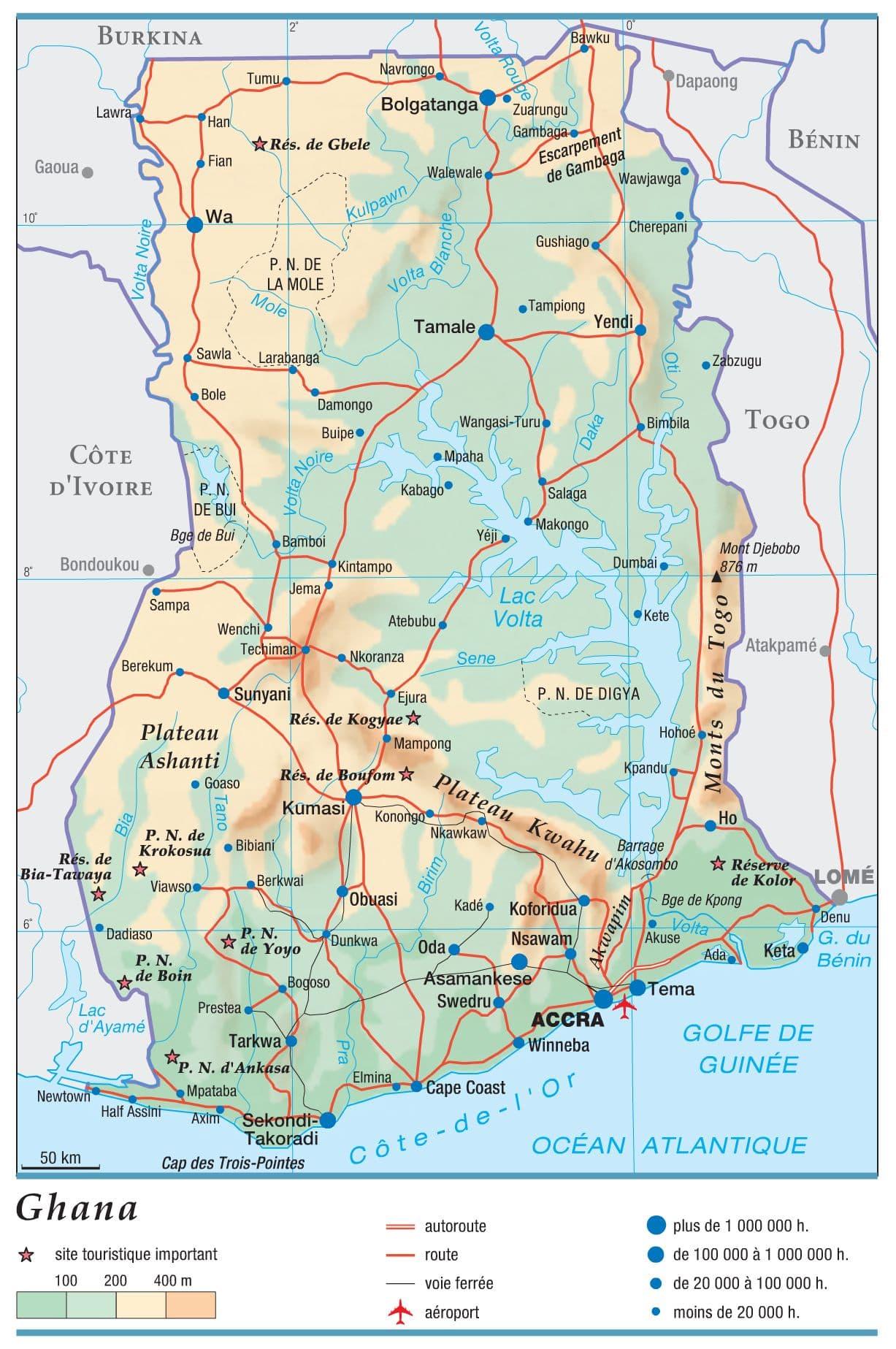 Carte Du Ghana Avec Villes | tonaartsenfotografie
