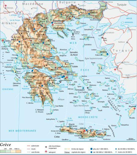 Crete Carte Geographique Monde.Encyclopedie Larousse En Ligne Grece En Grec Ellas Ou Hellas