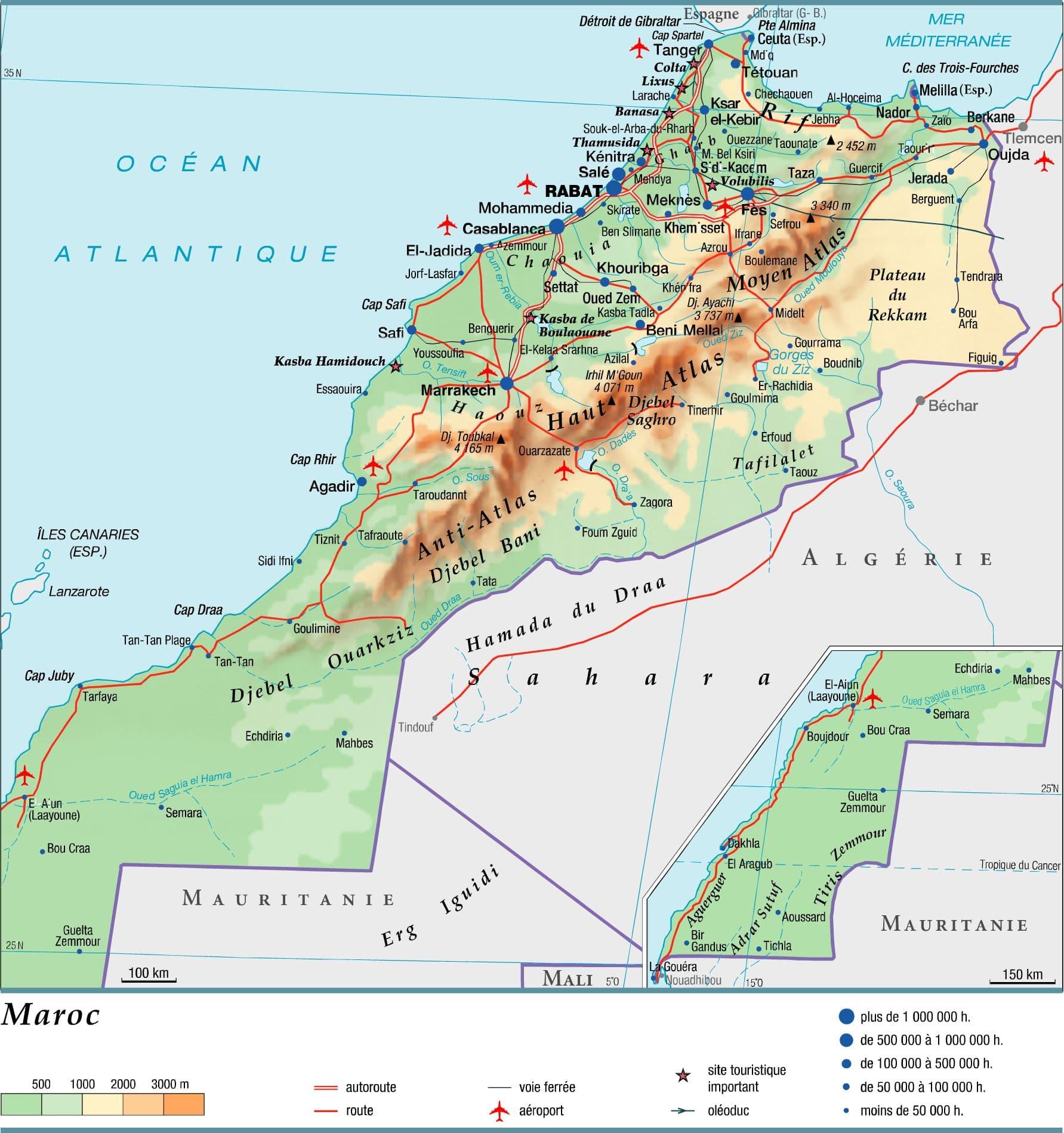 maroc geographie