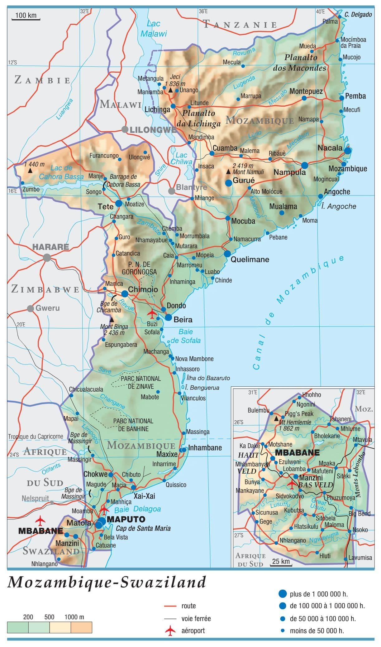 Encyclopédie Larousse en ligne   Mozambique   Swaziland