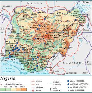 Carte Afrique Nigeria.Encyclopedie Larousse En Ligne Nigeria Republique Federale
