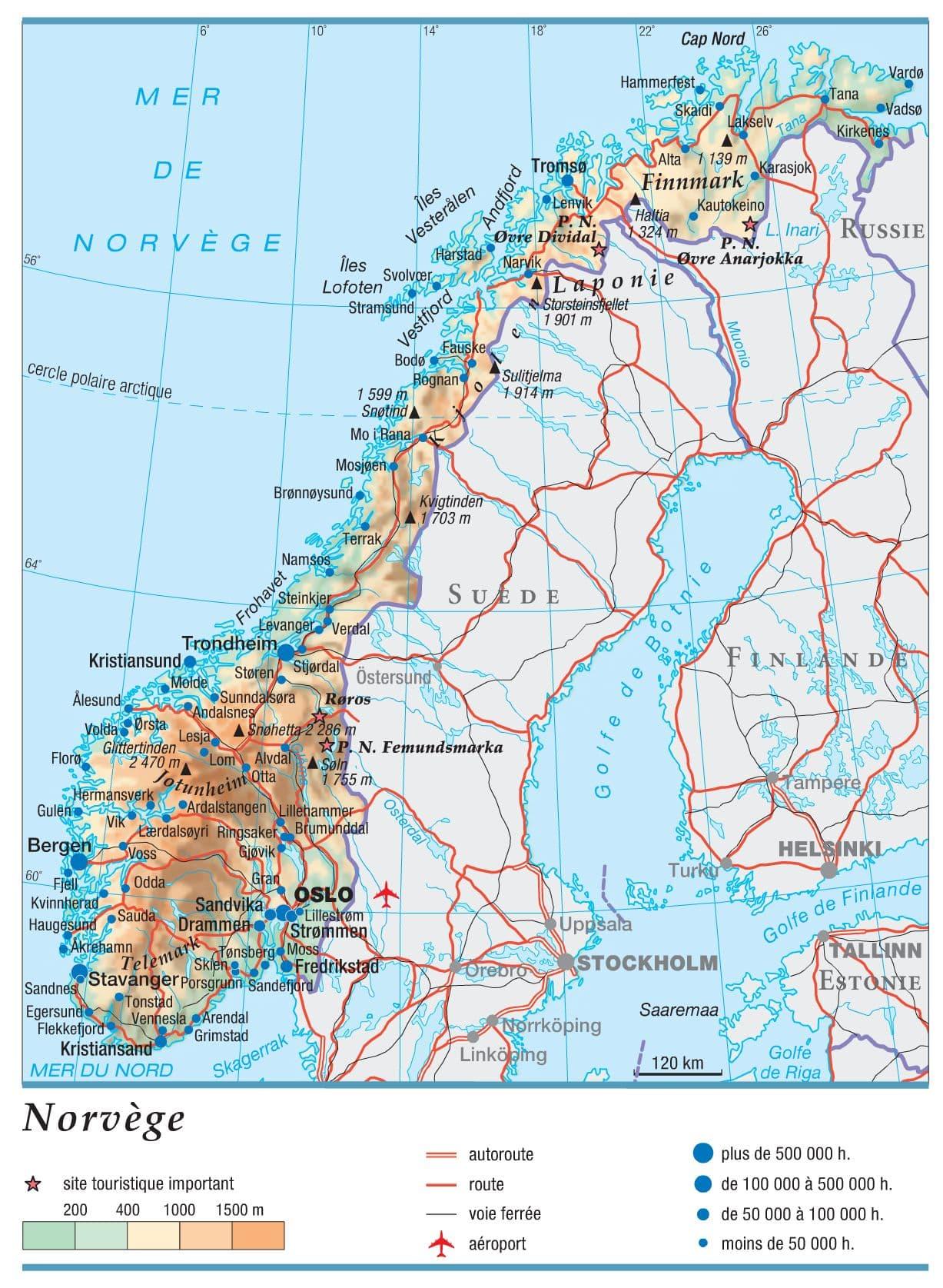 Infos Sur   Carte De La Cote De Norvege