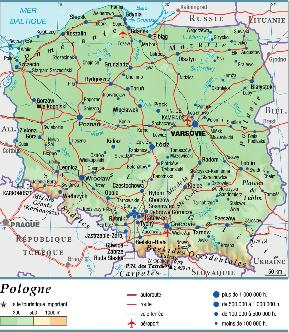 pologne geographie