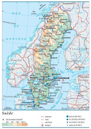 geographie de la suede
