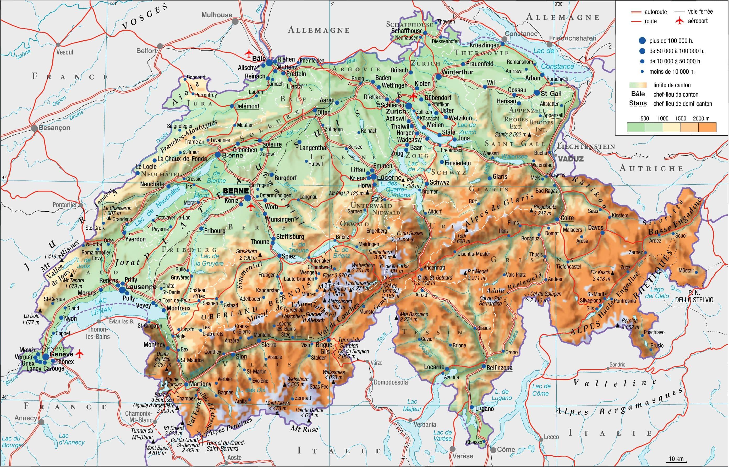 Carte Géographique Du Valais Suisse | tonaartsenfotografie
