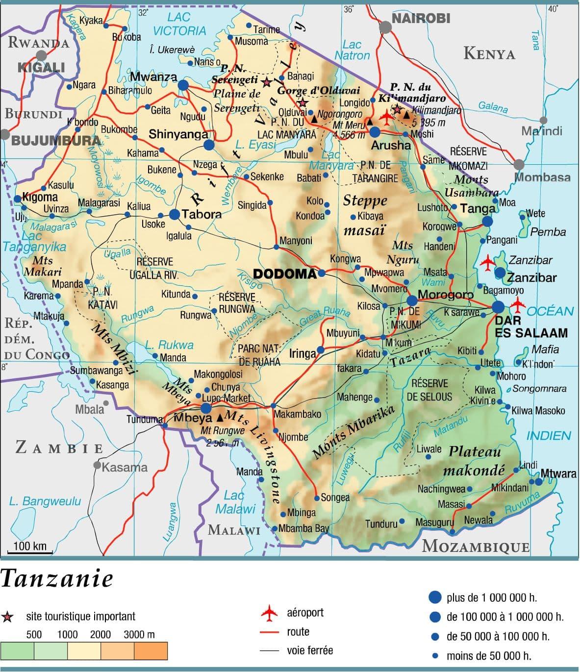 Encyclopédie Larousse en ligne   Tanzanie en anglais Tanzania