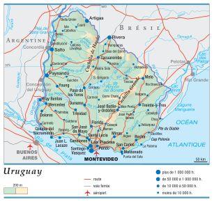 Carte Amerique Latine Uruguay.Encyclopedie Larousse En Ligne Uruguay Republique Orientale De L