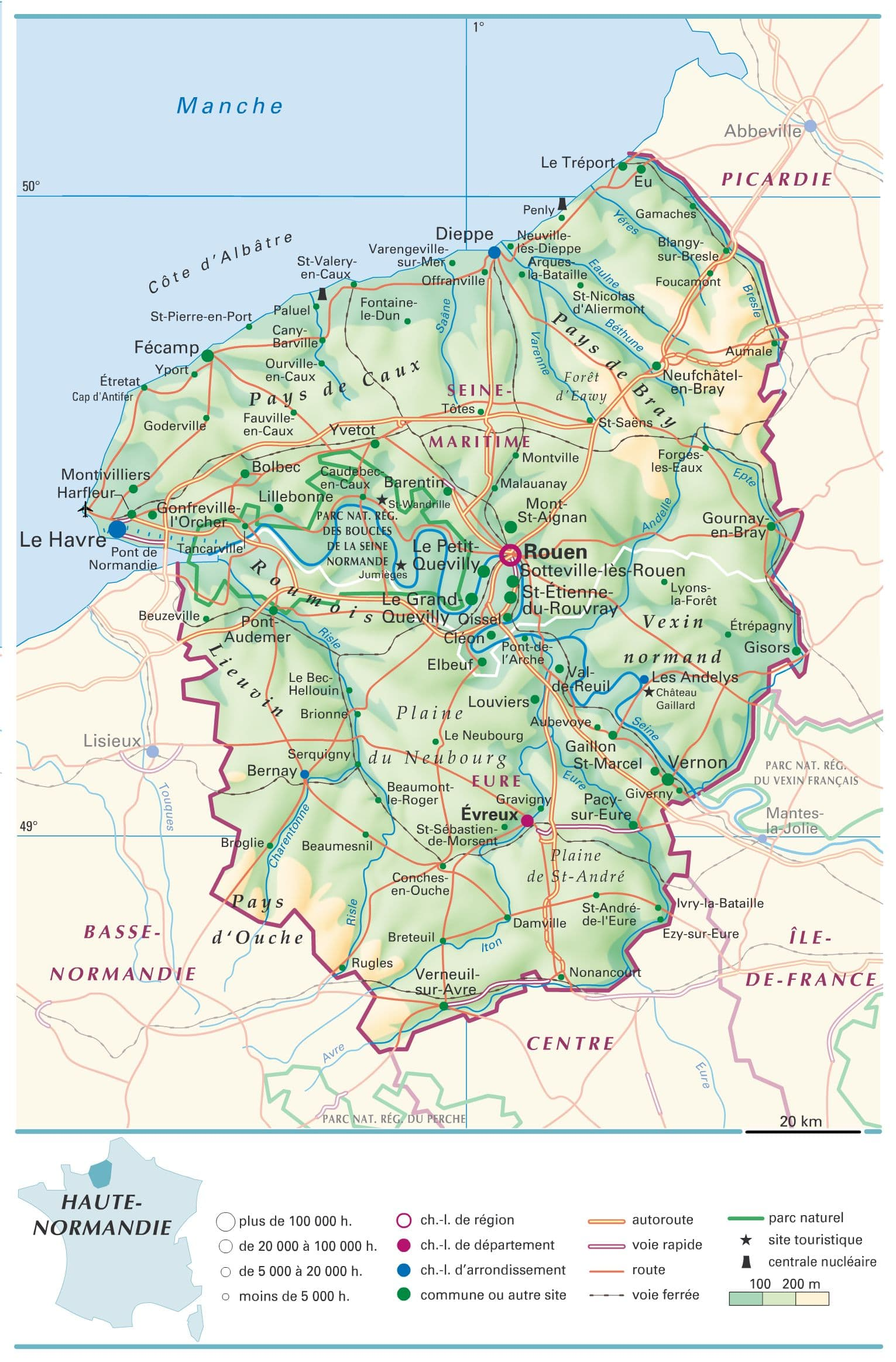 carte de haute normandie