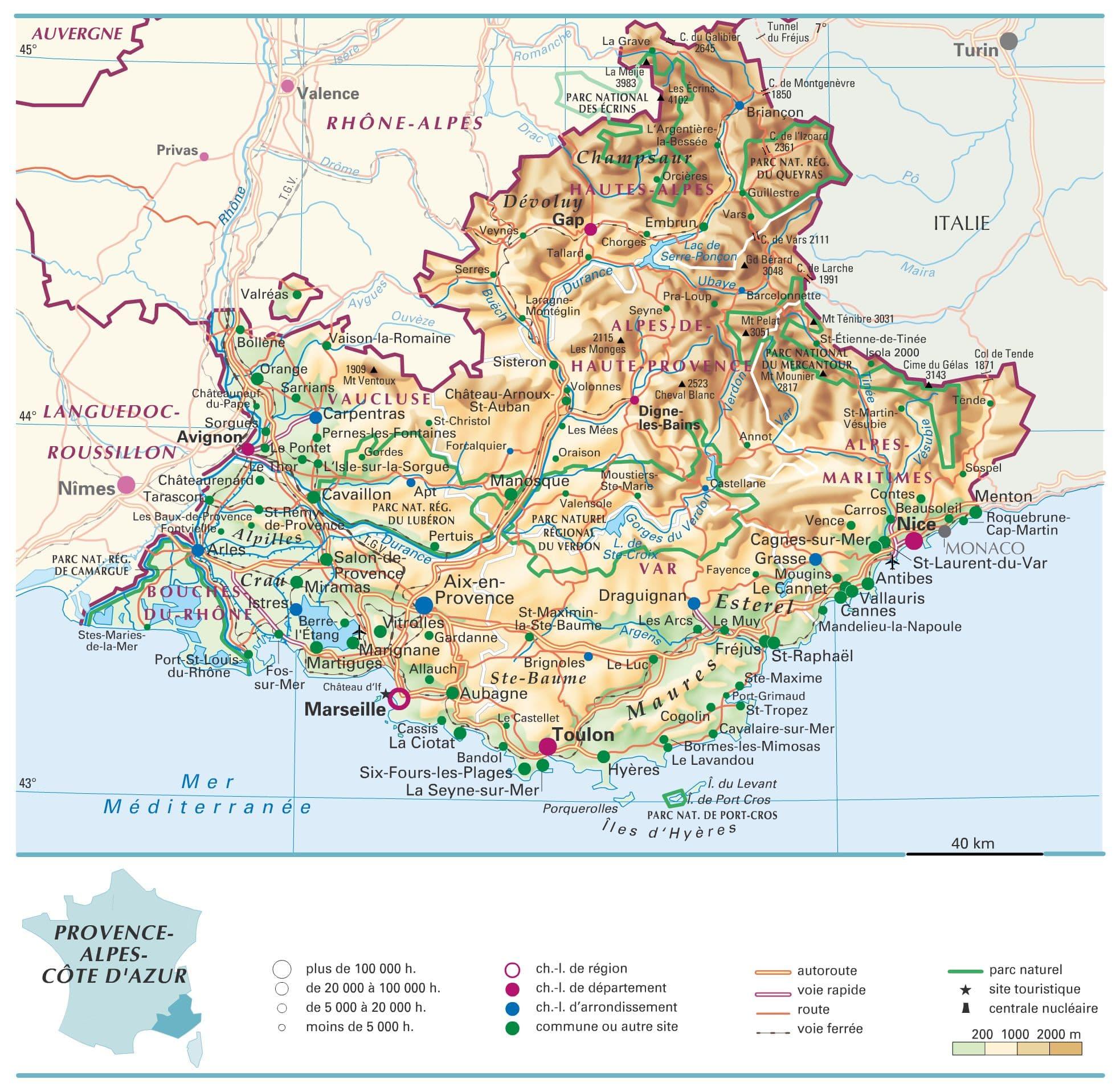 Alpes du sud carte de france voyages cartes for Booking sud de la france