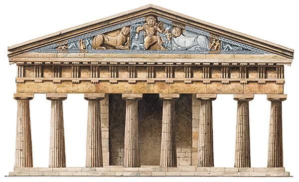 Corfú, el templo de Artemisa'Artémis