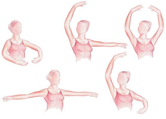 Positions de la danse académique (bras)