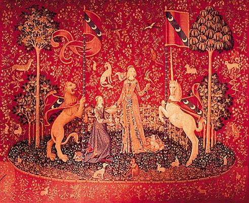 Encyclop die larousse en ligne la dame la licorne - Tapisserie dame a la licorne ...