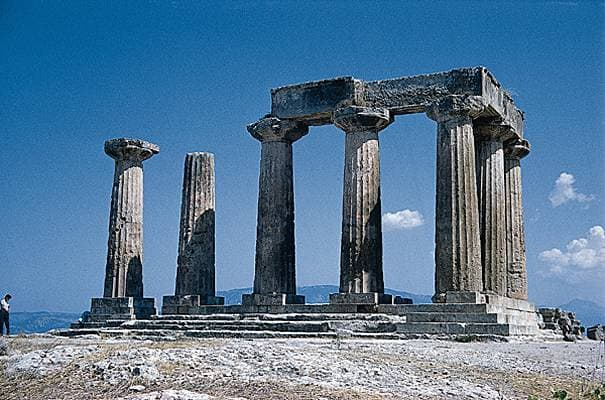 Corinthe, le temple d'Apollon