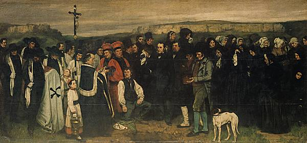 Gustave Courbet, Un enterrement à Ornans