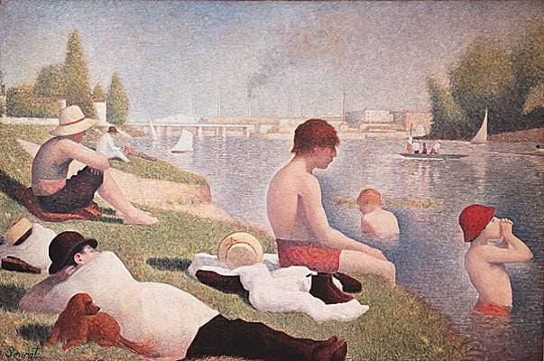 Georges Seurat, <i>Une baignade à Asnières</i>