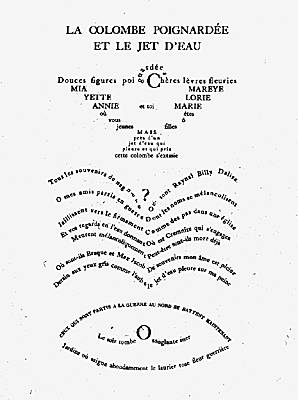 Guillaume Apollinaire, <i>Calligrammes</i>
