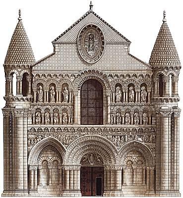 Encyclop die larousse en ligne art roman ancien fran ais for Architecture romane et gothique