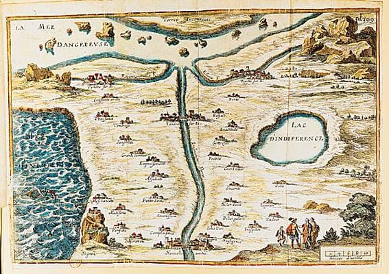 carte du Tendre - LAROUSSE