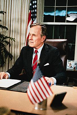 George Bush, déclaration de bombardement contre l'Iraq