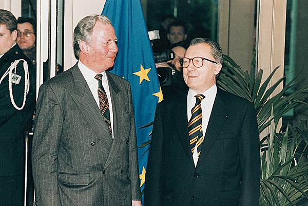 Jacques Delors et Jacques Santer