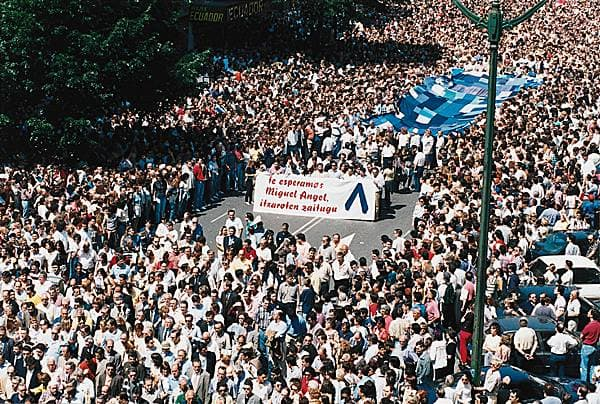 Manifestation anti-E.T.A., Bilbao, 1997