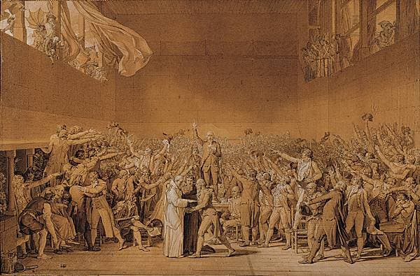 Louis David, le Serment du Jeu de paume