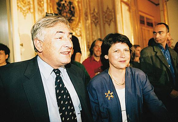 Martine Aubry et Dominique Strauss-Kahn