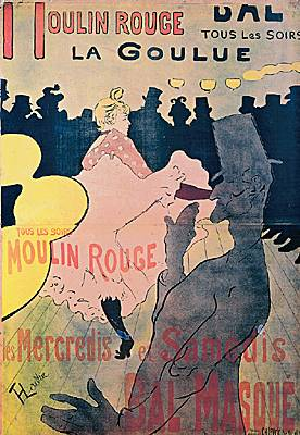 Henri de Toulouse-Lautrec, la Goulue au Moulin-Rouge