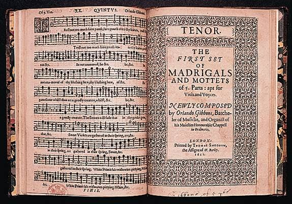 Orlando Gibbons, Madrigals and Mottets [...] for Viols and Voyces