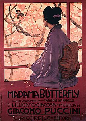 Affiche pour Madame Butterfly
