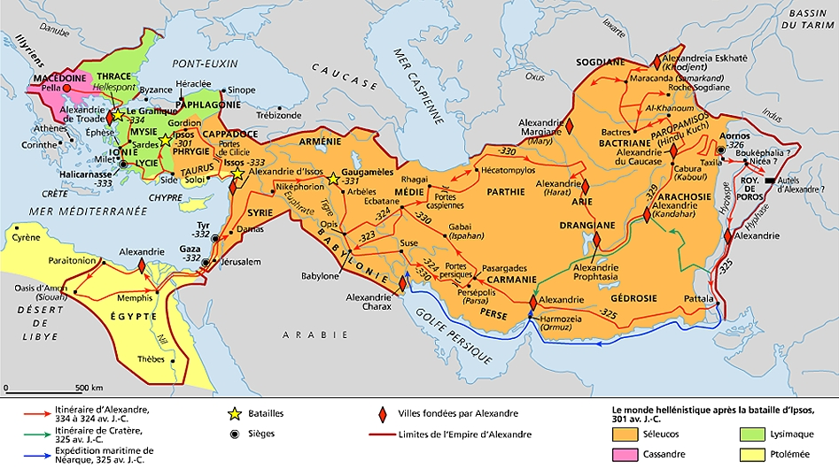 L'impero di Alessandro e gli inizi del mondo ellenistico'empire d'Alexandre et les débuts du monde hellénistique