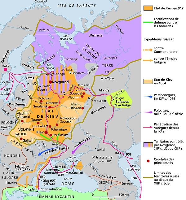 État de Kiev ou Russie kievienne - LAROUSSE