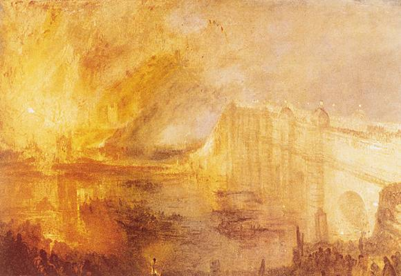 William Turner, l'Incendie du Parlement