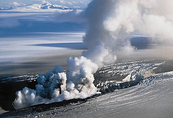 Éruption volcanique, Islande, 1996